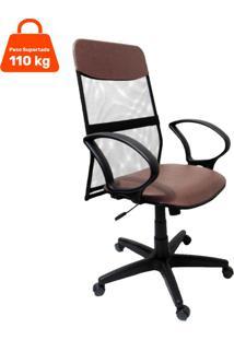Cadeira De Escritório Presidente Costaneira Soft Marrom