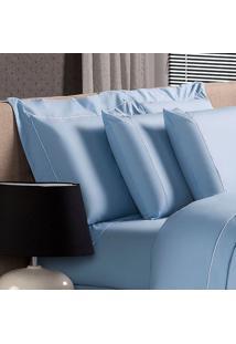 Fronha Blue Algodão Azul 50X90