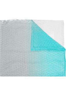 Missoni Cachecol De Tricô Em Degradê - Azul