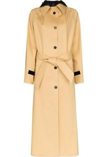 Kassl Editions Trench Coat Com Capuz - Marrom