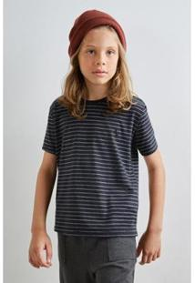 Camiseta Reserva Mini Listra Leve Masculina - Masculino-Preto