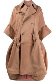 Junya Watanabe Trench Coat Com Abotoamento Duplo - Marrom