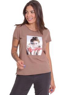 T-Shirt De Algodão Estonada Le Julie Caqui