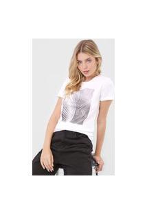Camiseta Calvin Klein Folha Branca