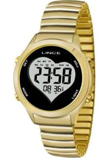 Relógio Feminino Lince Digital Sdph065L Bpkx - Unissex-Dourado