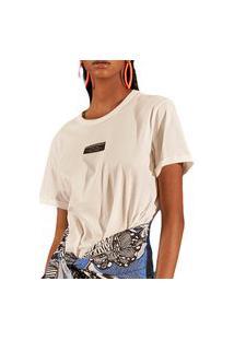 Camiseta Colcci Every Moment Off Shell Feminino