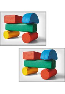 Jogo Americano Colours Creative Photo Decor - Brinquedo De Carrinho De Madeira - 2 Peças