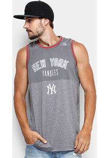 Regata Mlb New York Yankees New Era Melange Basket Masculina - Masculino-Mescla
