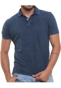 f5e542c629cd5 Camisa Polo Stone Wash Marmorizada Dark - Masculino