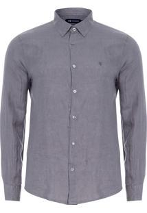 Camisa Masculina Linen Lisa - Cinza