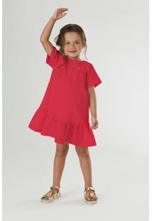 Vestido Em Laise Up Baby Vermelho