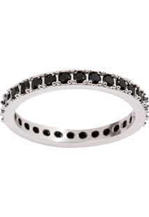 Alianã§A The Ring Boutique Cravejada De Zircã´Nias Em Rã³Dio Branco - Prata - Feminino - Dafiti