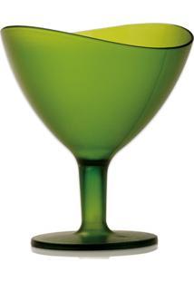 Taça Sobremesa Wave Cristal Verde 300Ml