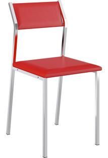 Kit 2 Cadeiras 1709 Napa Móveis Carraro Vermelho