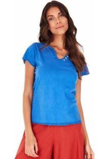 Camiseta Sidewalk Árabe Feminina - Feminino-Azul