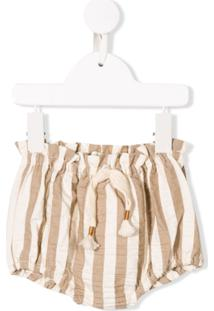 Message In The Bottle Striped Shorts - Neutro