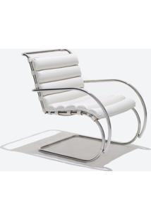 Cadeira Mr Inox (Com Braços) Couro Vermelho C