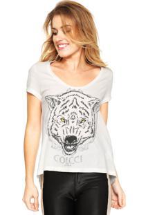 Camiseta Colcci Silk Bege