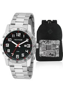 f241c775c5b32 Kit Relógio Masculino Technos Com Mochila The Black