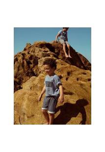 Amaro Feminino Jouer Camiseta Stronger Infantil, Azul