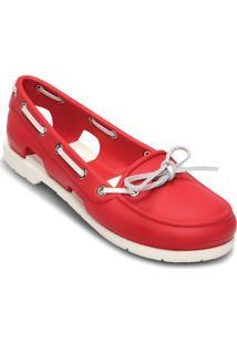 Sapatilha Beach Line Boat Shoe- Vermelha & Brancacrocs