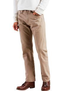 Calça Jeans Levis Masculino 505 Regular Caqui