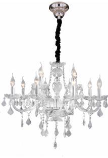 Lustre Hevvy Maria Theresa Sl-9840-H12- Cromado E Transparente