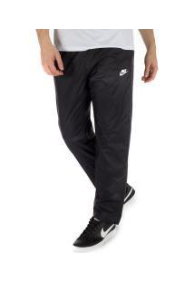 Calça Nike Oh Woven Core Track - Masculina - Preto/Branco
