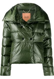 Liu Jo Double-Breasted Puffer Jacket - Verde