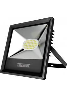 Refletor Led 30W Preto Tr Taschibra 3000K Luz Amarela