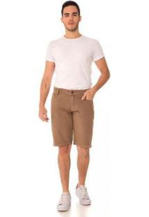 Bermuda Jeans Express Allan Caqui Masculina - Masculino-Marrom