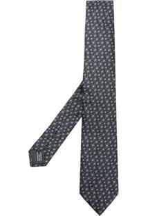 Lanvin Gravata De Seda Com Estampa De Estrelas - Preto
