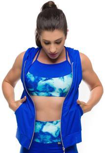Colete Maxx Air Sandy Fitness - Feminino-Azul Royal