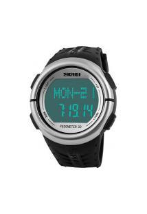 Relógio Skmei Digital -1058- Preto E Prata