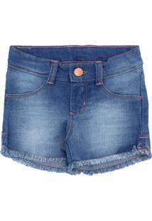 Bermuda Jeans Hering Kids Menina Azul