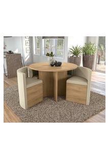 Conjunto Mesa Redonda Kappesberg Nirá 4 Cadeiras
