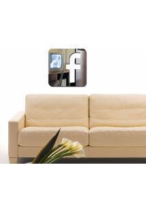 Espelho Decorativo Facebook