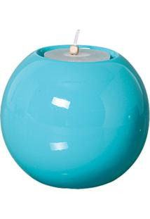 Castiçal Bella De Cerâmica 12Cm Azul Mazzotti
