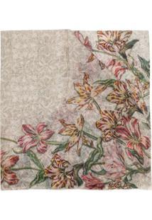 Faliero Sarti Cachecol Com Estampa Floral De Cashmere - Estampado