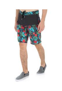 Bermuda O'Neill Tropics - Masculina - Preto