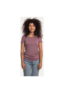 Camiseta Decote Redondo Em Modal Rosê