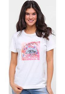 Camiseta Forum Eye Feminina - Feminino-Areia
