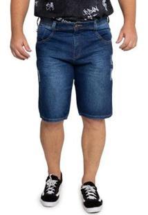 Bermuda Biotipo Plus Size Jeans Masculina - Masculino