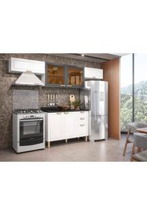 Cozinha Compacta Nevada Ii 6 Pt 3 Gv Grafite E Branca