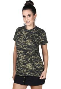Camiseta Soldier Digital Pântano Treme Terra Verde