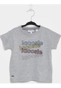 Camiseta Infantil Lacoste Logo Masculina - Masculino