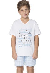 Pijama Infantil Masculino Amor De Filho Amores Lua Encantada