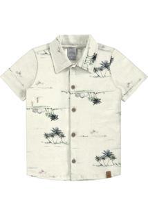 Camisa Meia Malha Branco