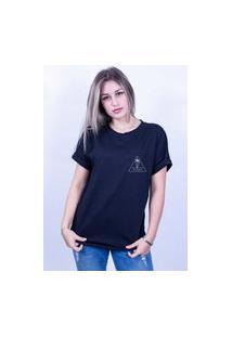 Camiseta Bilhan Corte A Fio Surf E Liberdade 1 Pqn Preta