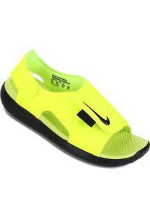 Sandália Infantil Nike Sunray Adjust 5 - Masculino-Preto